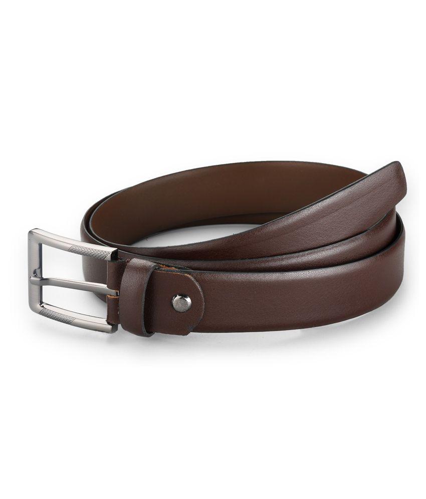 Contrast Brown Formal Single Men Belt