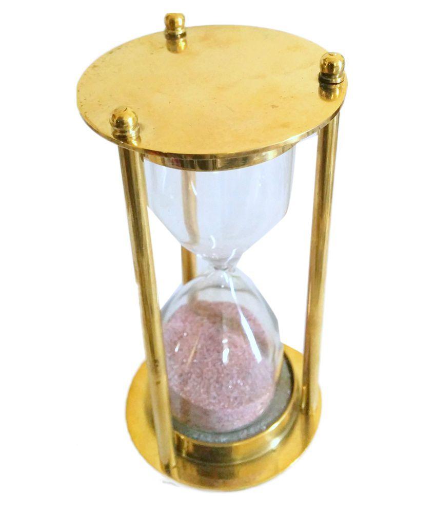 Artshai Sleek Brass Hourglass With 1 Minute Sand Timer