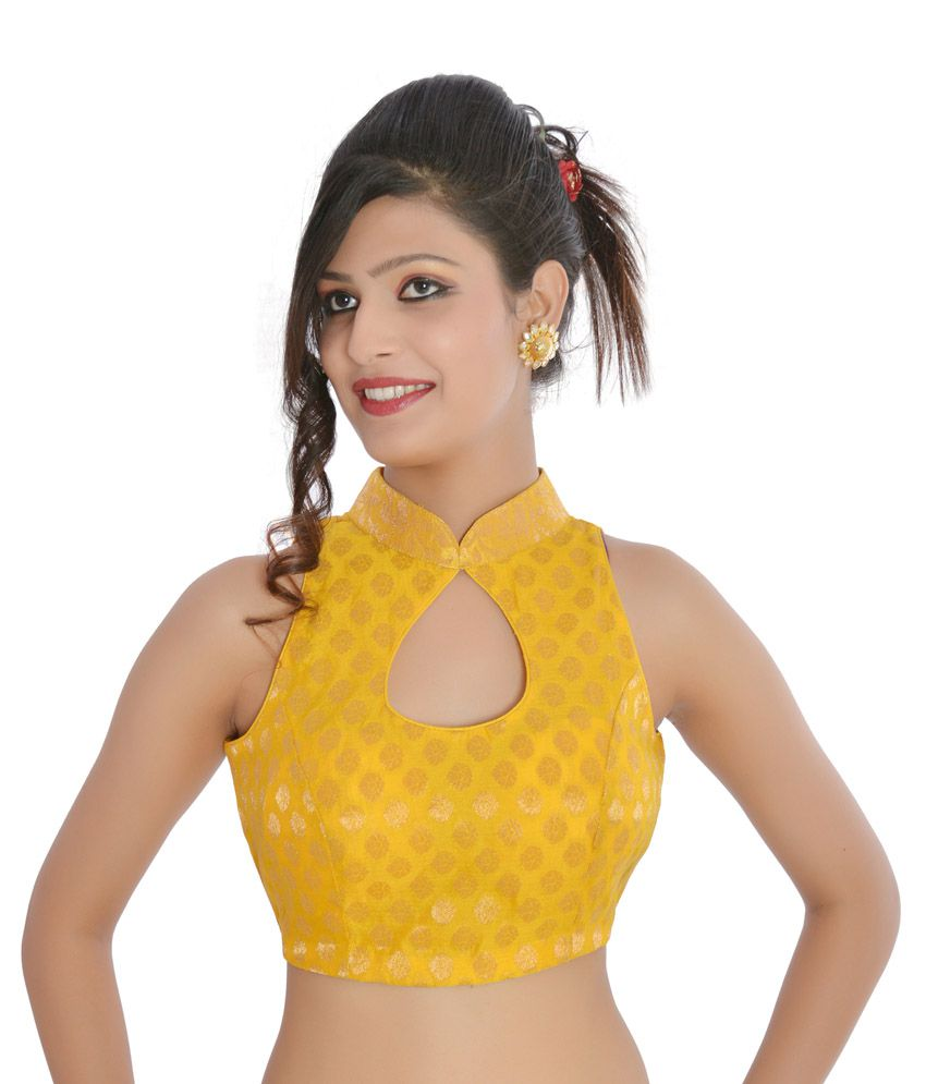 d713779f99e705 Inblue Yellow Party Wear Designer Brocade Blouse - Buy Inblue Yellow Party  Wear Designer Brocade Blouse Online at Low Price - Snapdeal.com