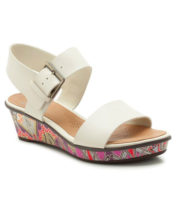 b5a33ec15776 Clarks White Wedges Price in India- Buy Clarks White Wedges Online at  Snapdeal