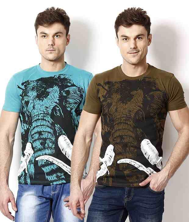 Monarch Multi Half Combo of 3 Cotton Round  T-Shirt