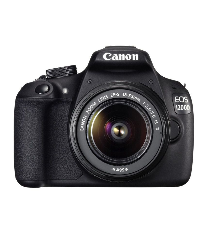 canon eos 1200d dslr camera black 18-55 is ii lens 18 mp 8gb card carrying case
