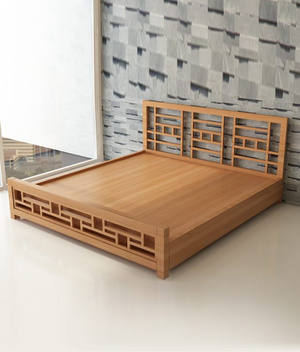 decore king bed mahogany finish in teak wood rh snapdeal com