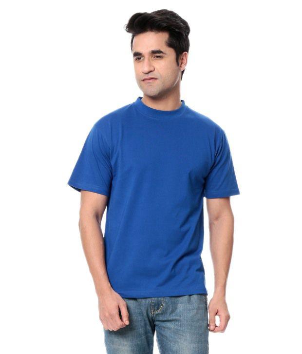Leana Blue Half Cotton Round T-Shirt