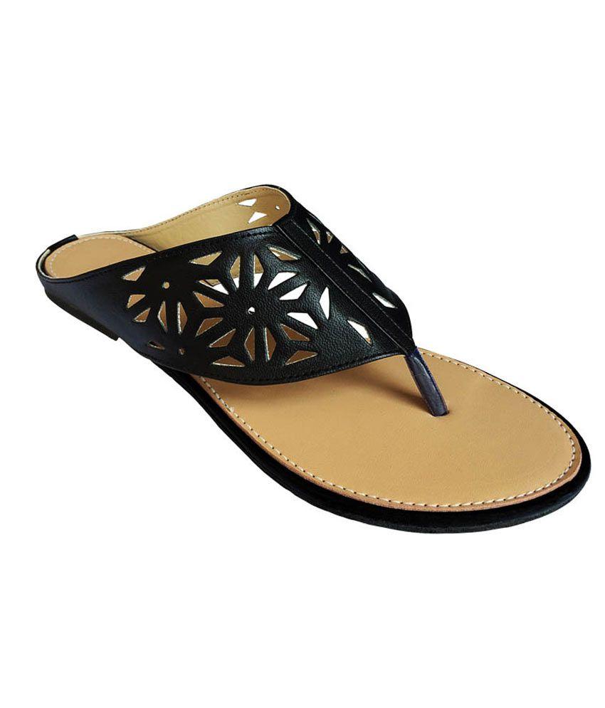 Sindhi Footwear Black Flat