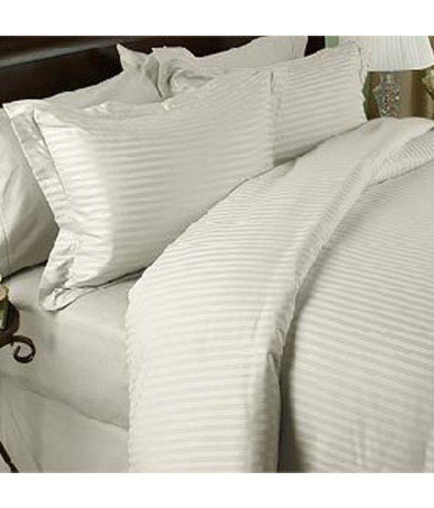 1200 Thread Count Egyptian Cotton 1200Tc Sheet Set  California King  Ivory  Damask ...