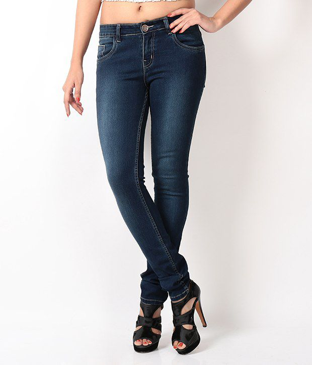 Fashion Cult Blue Denim Lycra Jeans