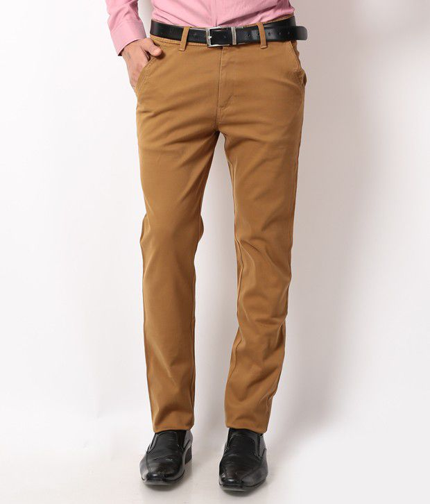 British Terminal Brown Slim Casuals Chinos