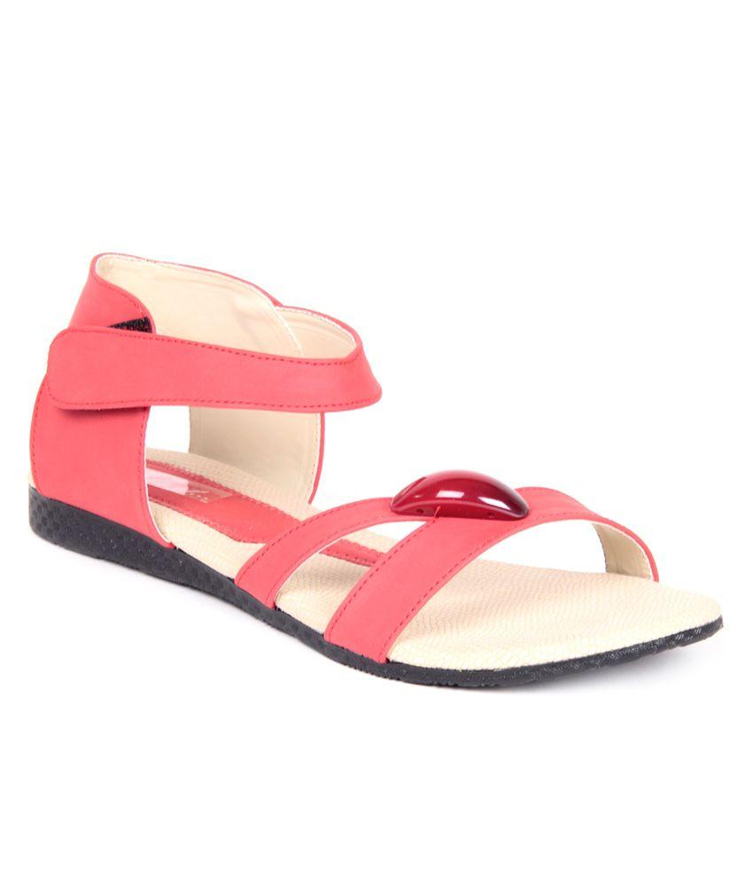 Feel It Zesty Red Sandals