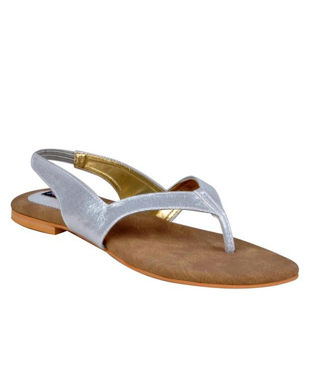 Funky Town Distinct Silver Sandals