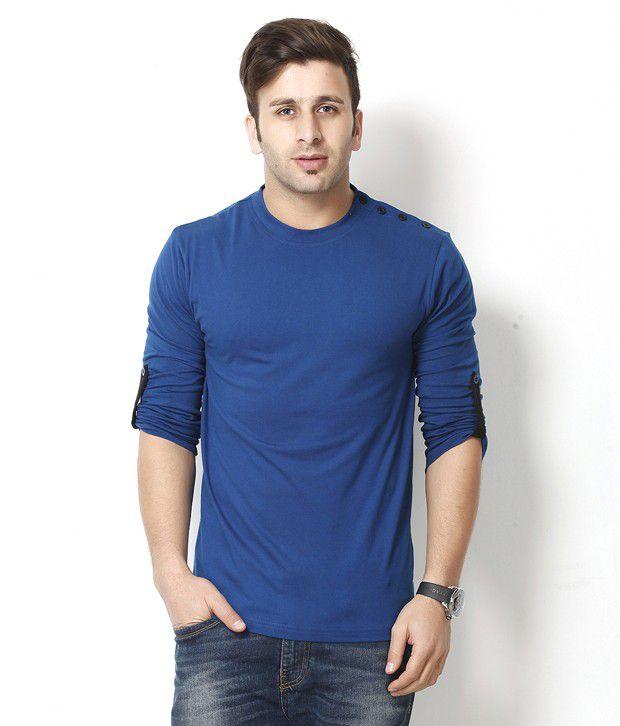 Gritstones Stylish Blue Round Neck T Shirt