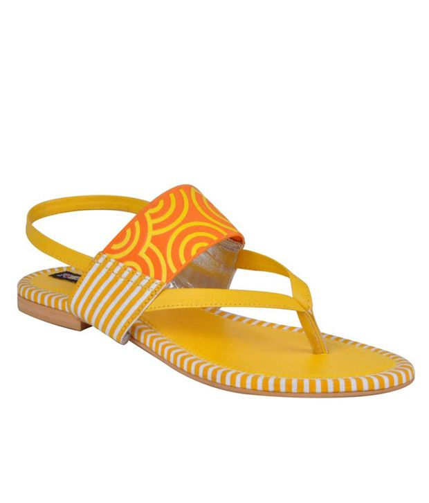 Funky Town Splendid Yellow Sandals