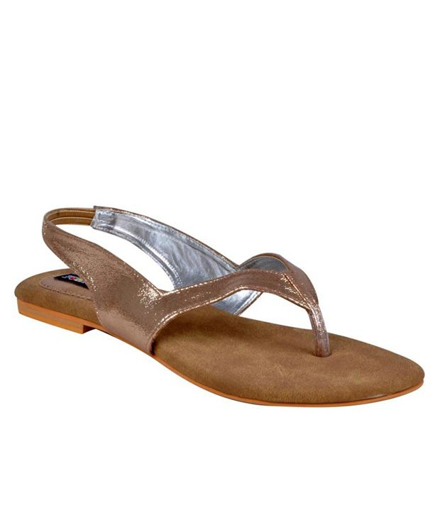 Funky Town Zesty Golden Sandals