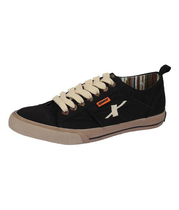 Buy Sparx Black Canvas Shoes