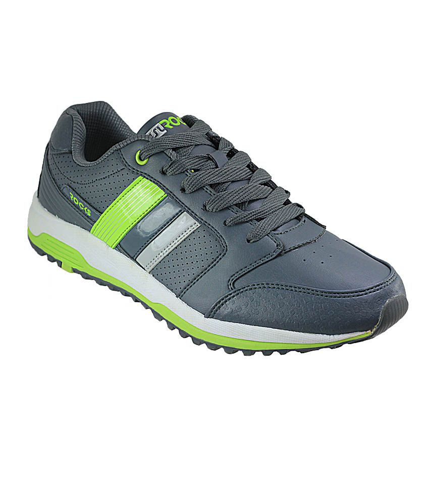 WSL WSLmaster-Grey & Green Men's Sports Shoes