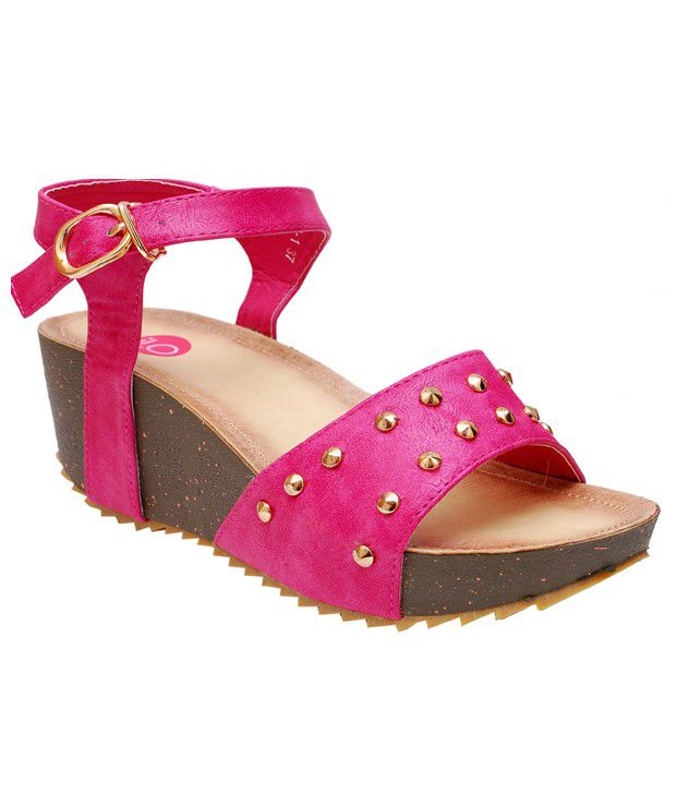 iLO Durable Pink Heeled Sandals