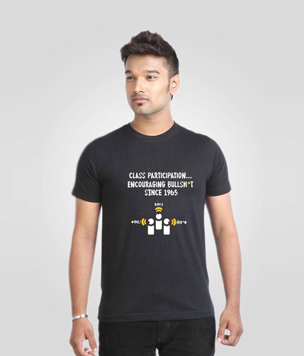 Campus Sutra Versatile Black T Shirt