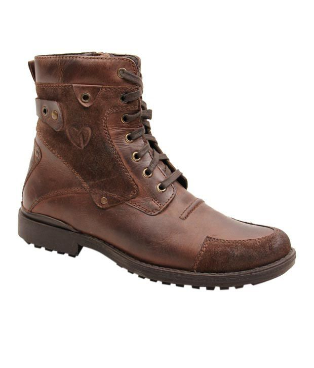 d657ac3a8c2 Delize Rugged Brown High Ankle Boots - Buy Delize Rugged Brown High ...