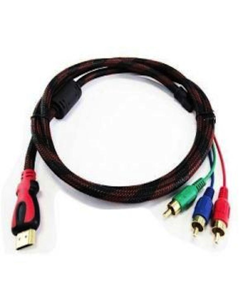 buy gioiabazar new hdmi male to 3 rca video audio av cable adapter for hdtv dvd 1080p online at. Black Bedroom Furniture Sets. Home Design Ideas