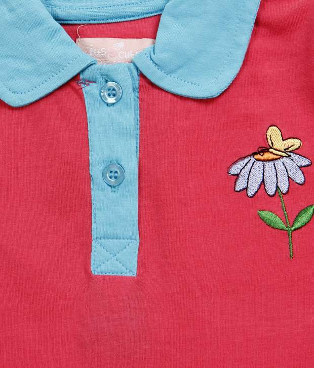 83b38ec4 ... Jus Cubs Polo Flower Yellow Half Sleeves Tops For Kids Buy Jus