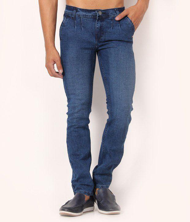 Muben Blue Cotton Jeans