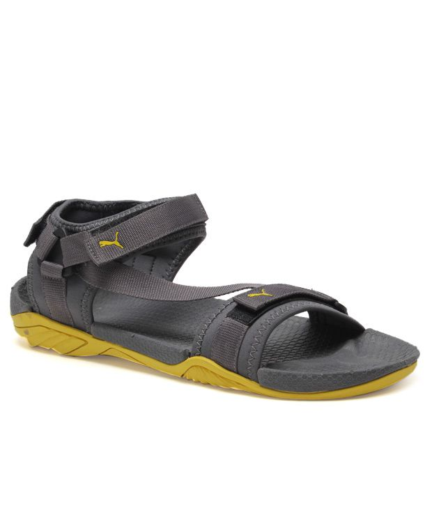 e7c9143d3b7c53 Puma Gray   Yellow Floater Sandals - Buy Puma Gray   Yellow Floater Sandals  Online at Best Prices in India on Snapdeal