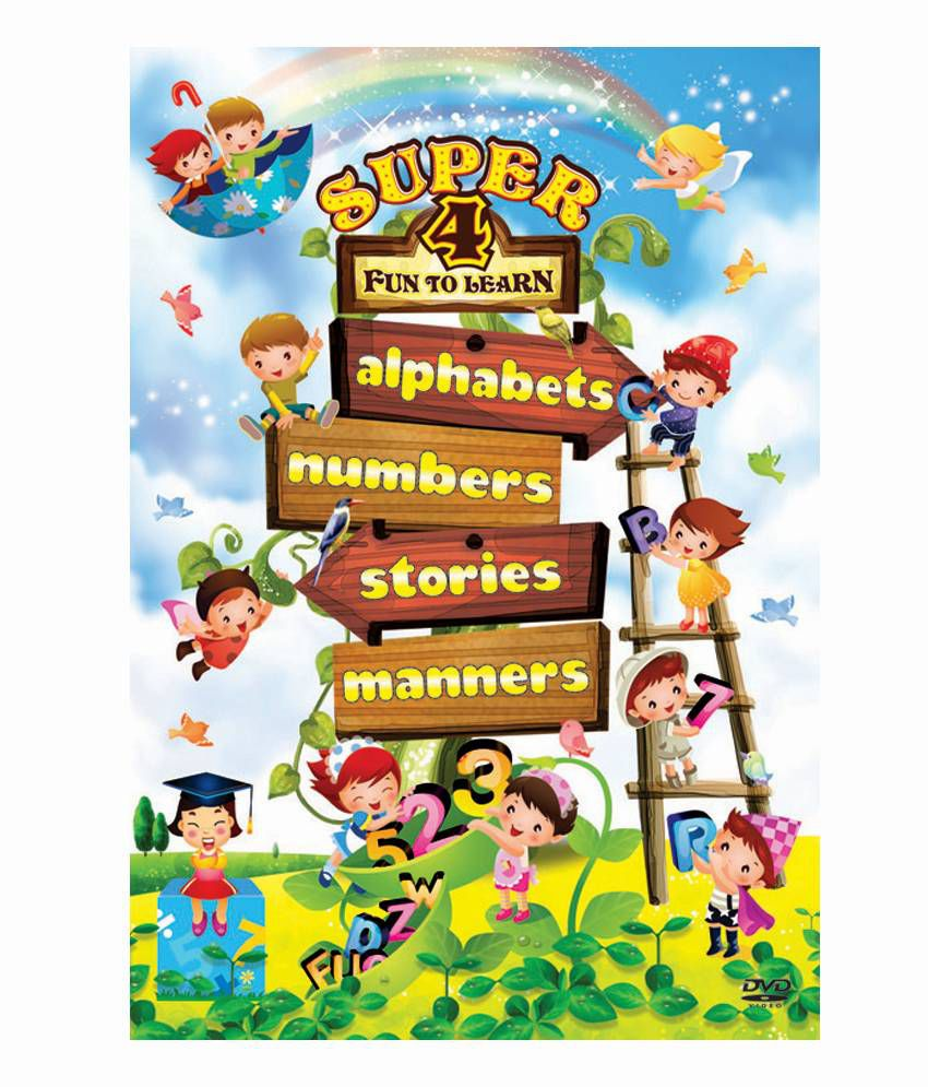 Super 4 Fun To Learn - Alphabets, Numbers, Stories & Manners (English) [DVD]