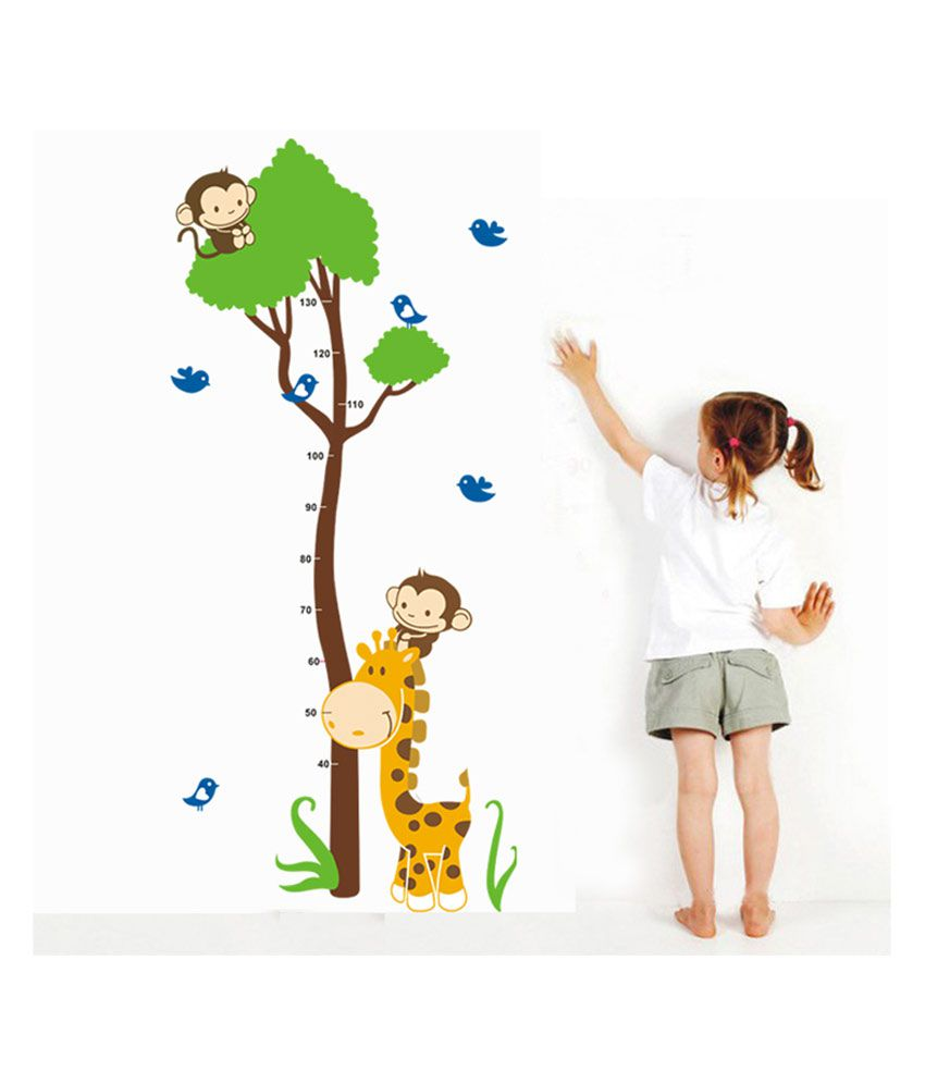 UberLyfe Monkey Height Measurement Growth Chart Removable Vinyl Mural Art Wall Sticker (Size : 150cm x 75cm)