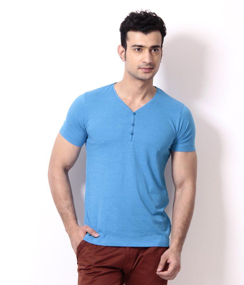 Locomotive Light Blue Basic T Shirt