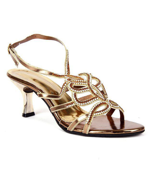 Reyna Glamorous Copper Heeled Sandals
