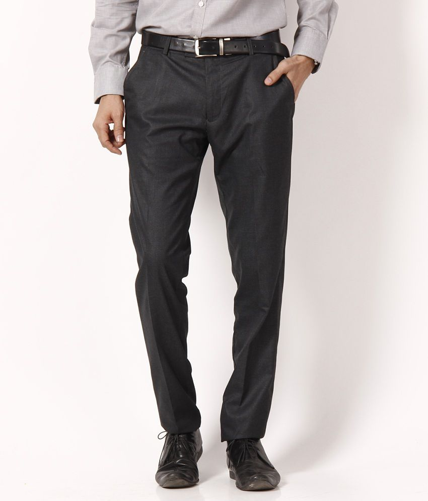 Black Coffee Dandy Deep Gray Trousers