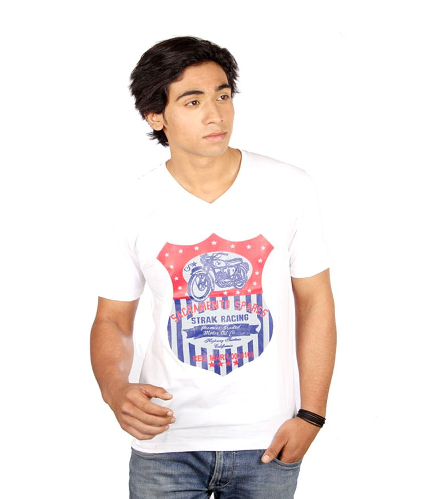 Strak Racing White T-shirt