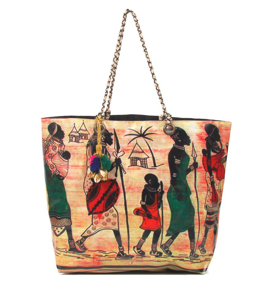 The House of Tara Quirky Multicolor Printed Tote Bag