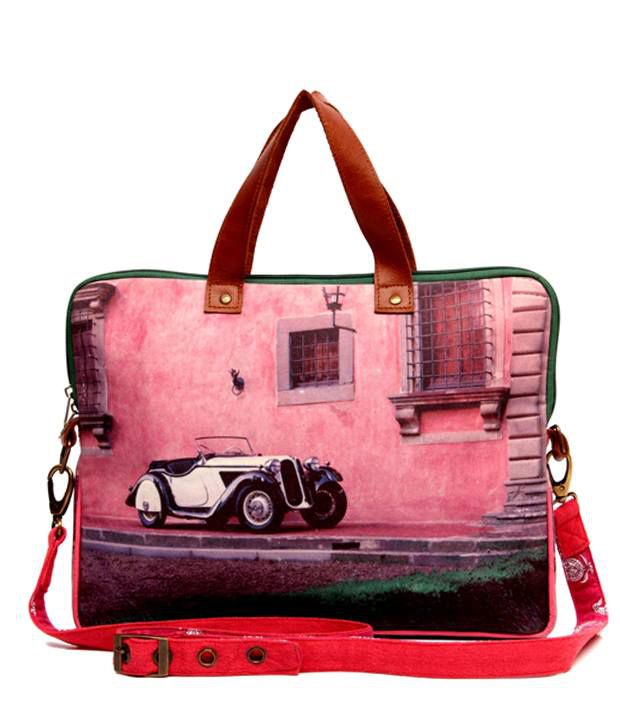 The House of Tara Striking Multicolor Printed Laptop Bag