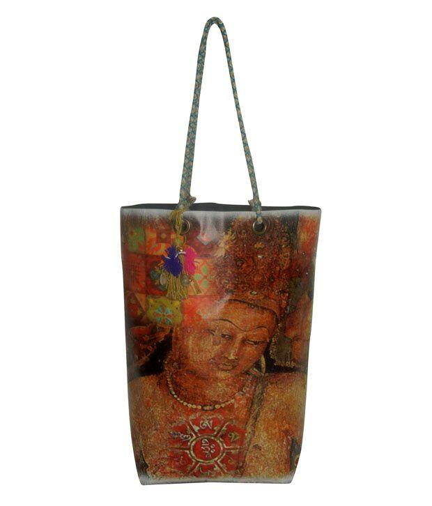 The House of Tara Vintage Look Multicolor Tote Bag