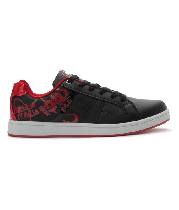 ab0c7effbf7d Fila Flow Attractive Black And Red Sneakers - Buy Fila Flow ...