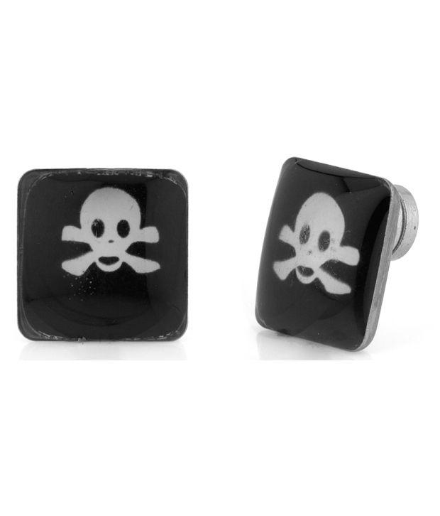 Voylla Magnetic Danger Sign Earrings