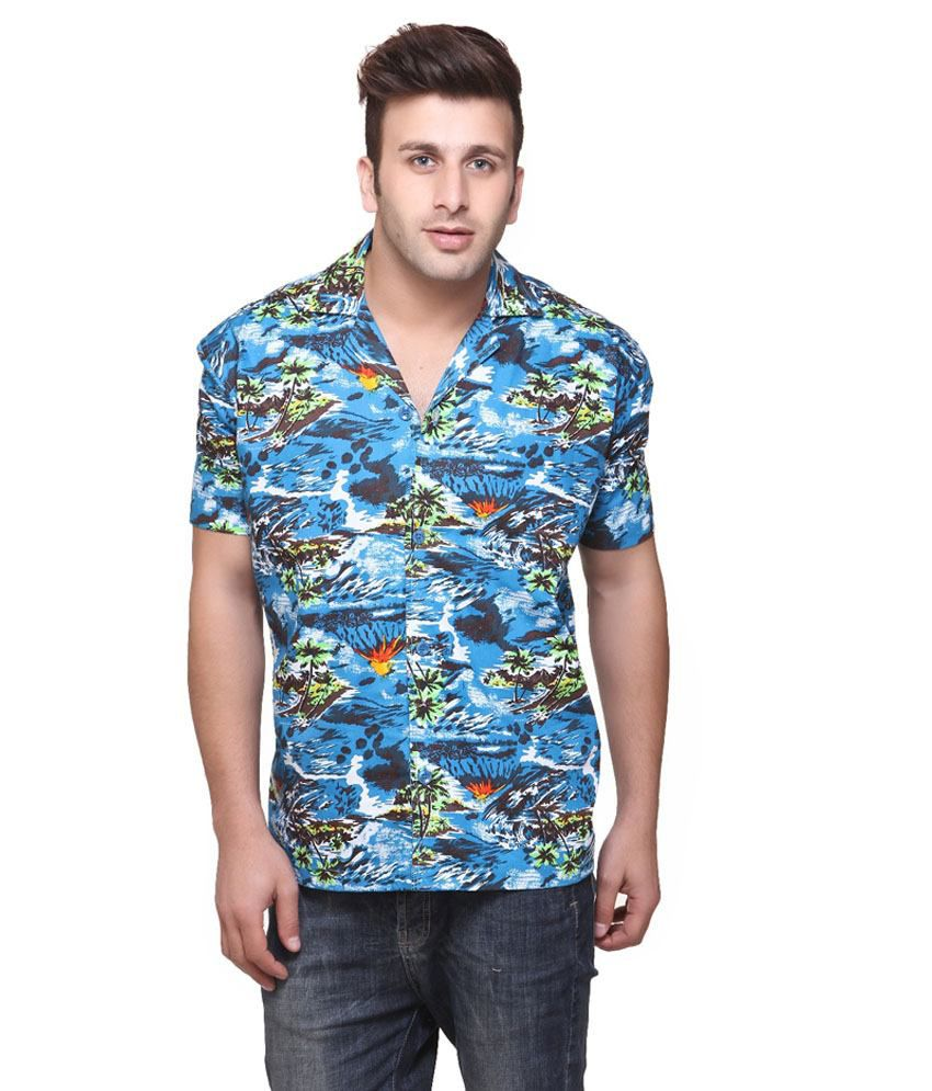 06a4bd97 American Crew Cotton Hawai Blue Printed Casual Beach Shirt - Buy American  Crew Cotton Hawai Blue Printed Casual Beach Shirt Online at Best Prices in  India ...