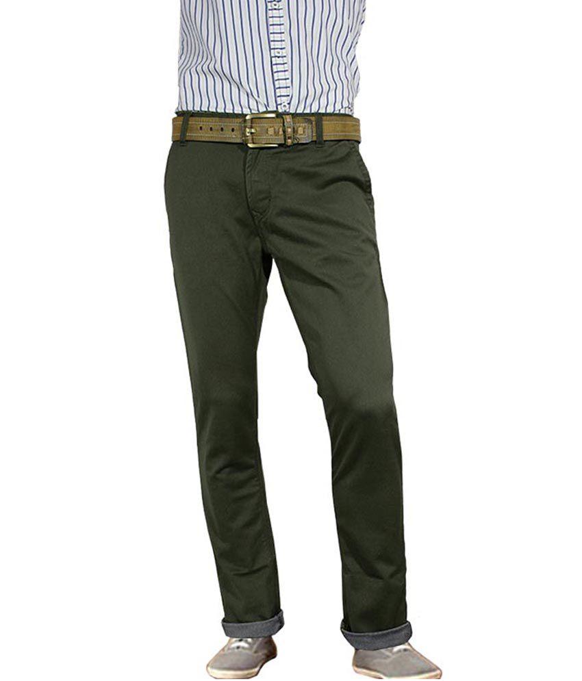 Numero Uno Dark Olive Trouser