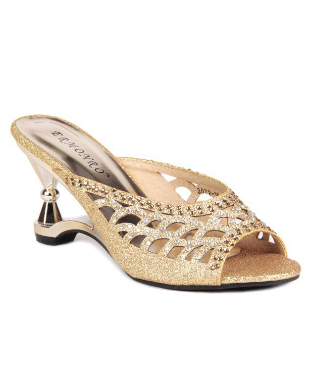 Reyna Magnetic Golden Slip On Heels