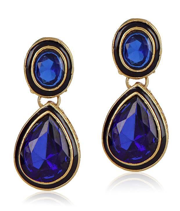 ShinningDiva Blue Stone Earrings