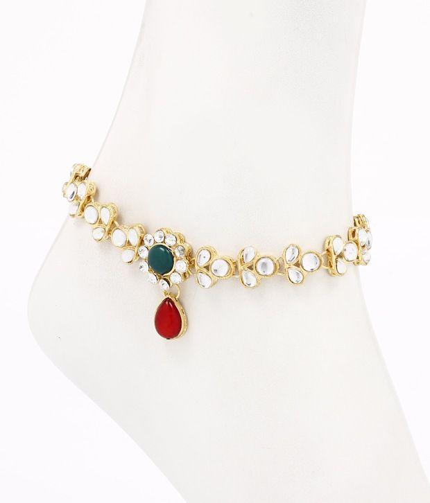 Ethnic Jewels Stonned Payal