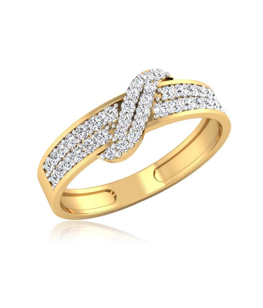 Forever Carat Real Diamond Ring in 100% Certified 14K Gold LR-0049YG