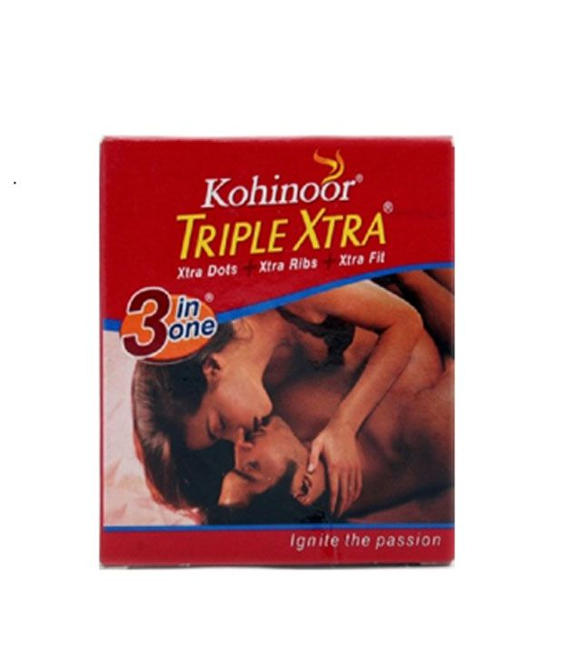 Kohinoor Tripe Xtra Condoms 20 Pieces Pack of 1