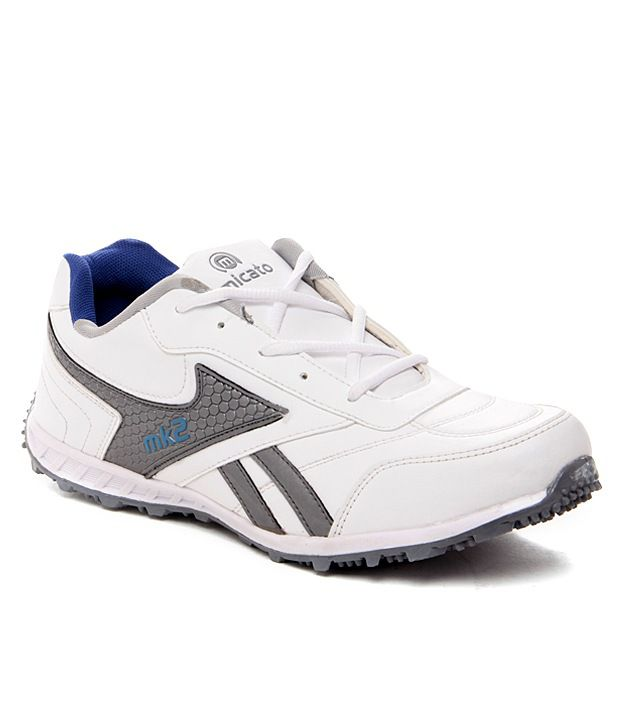 Micato Distinct Gray and White Sports Shoes