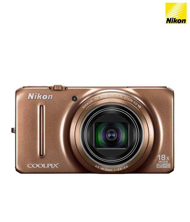 Nikon Coolpix S9200 16MP Digital Camera (Brown)