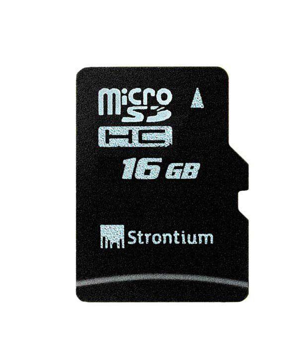 Strontium 16GB MicroSD Memory Card Class 6