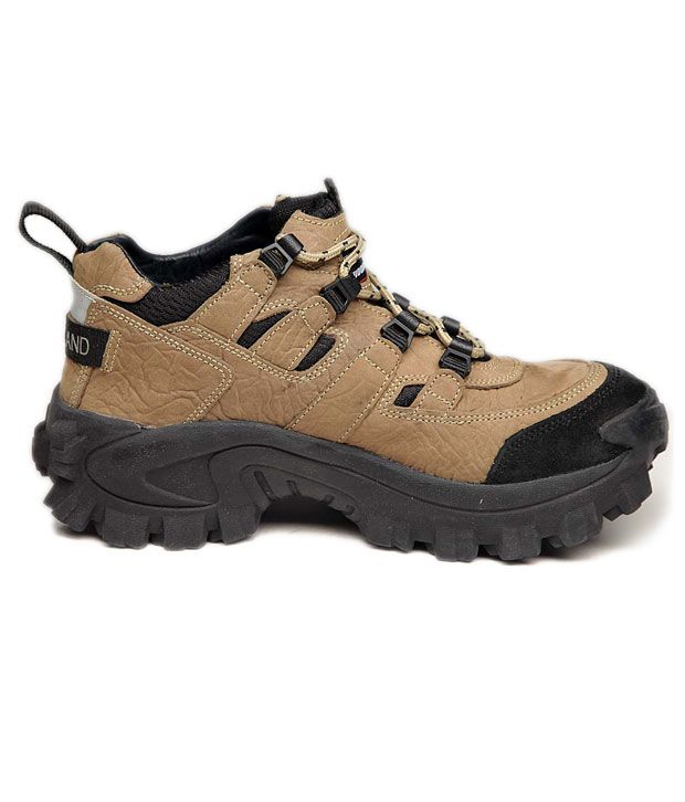 Woodland Khaki Outdoor Shoes - Buy Woodland Khaki Outdoor ...
