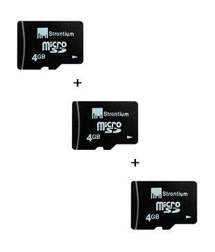 Strontium 4GB + 4GB + 4GB MicroSD Card