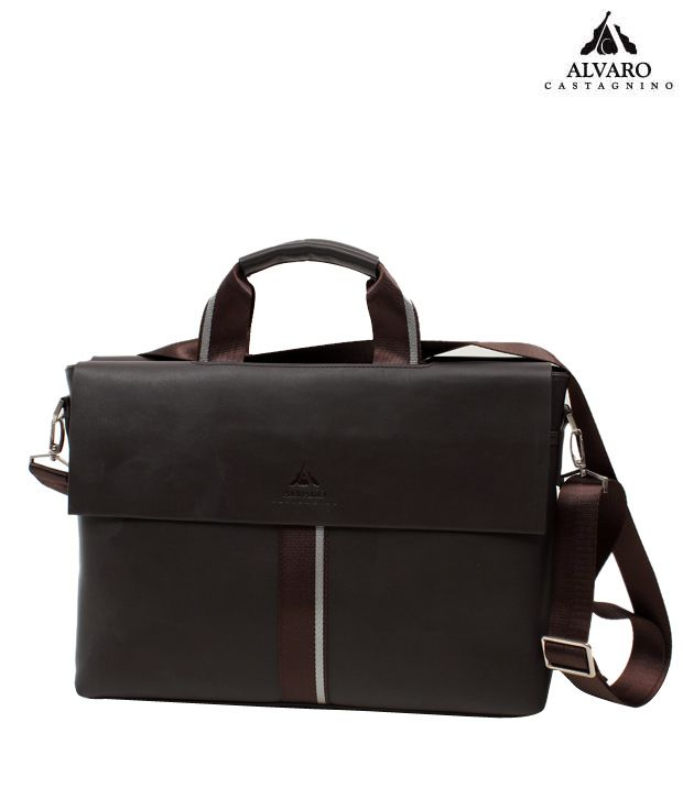 Alvaro Stunning Black Rugged Finish Laptop Bag